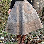 """Одежда ручной работы. Ярмарка Мастеров - ручная работа Валяная юбка """"Орех пекан"""". Handmade."""