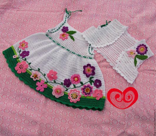 Одежда для девочек, ручной работы. Ярмарка Мастеров - ручная работа. Купить Платье детское. Handmade. Белый, платье для девочки