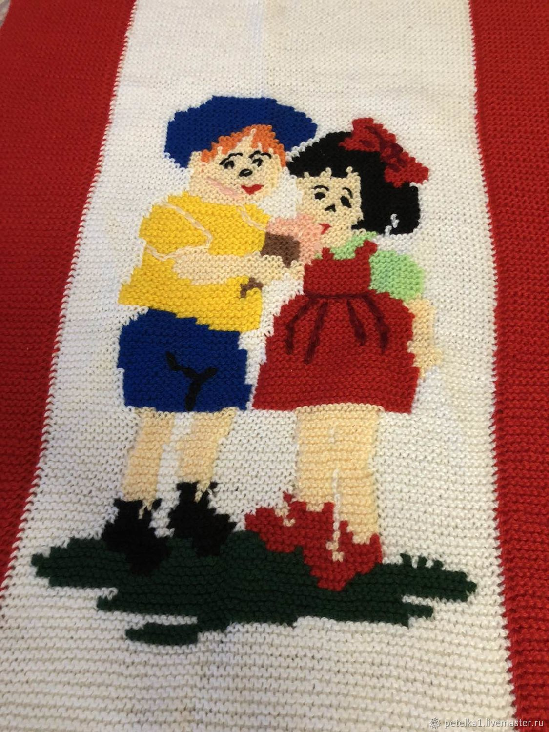 Children's knitting blanket ' Friends to your baby», Blankets, Astrakhan,  Фото №1