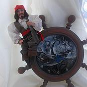 Куклы и пупсы ручной работы. Ярмарка Мастеров - ручная работа часы с пиратом. Handmade.