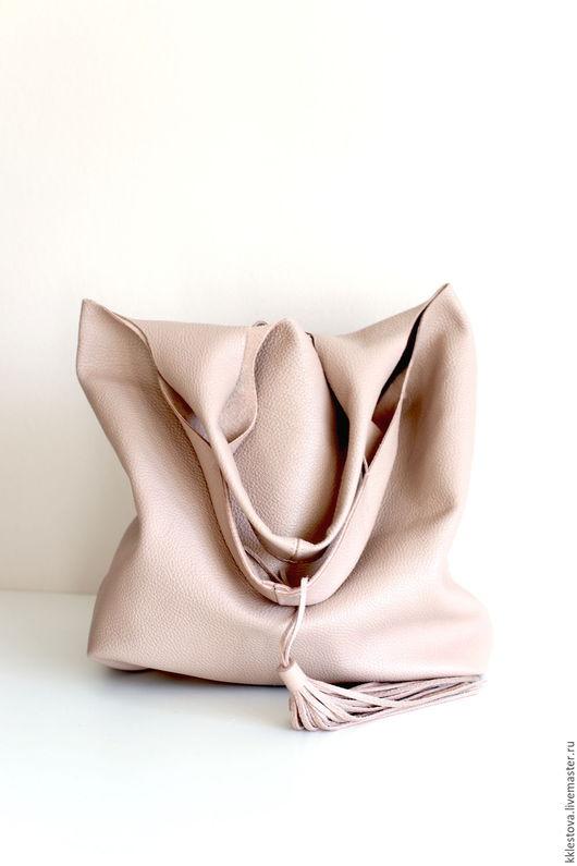 Женские сумки ручной работы. Ярмарка Мастеров - ручная работа. Купить Сумка - Мешок - Пакет - среднего размера с карманом. Handmade.