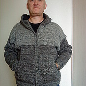 Одежда handmade. Livemaster - original item Knitted woolen jacket for men
