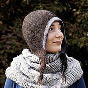 Аксессуары ручной работы. Ярмарка Мастеров - ручная работа Шапка - шлем валяная, шапка клош. Handmade.