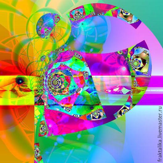 1.Иллюстрация `Под куполом Цирка` На заказ. Купить картину цена 4999 руб. Фракталика интернет магазин картин