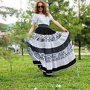 Одежда handmade. Livemaster - original item Summer tiered skirt