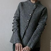 """Одежда ручной работы. Ярмарка Мастеров - ручная работа Жакет войлочный """"Серебро"""". Handmade."""