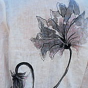 Одежда handmade. Livemaster - original item White blouse with painting and embroidery