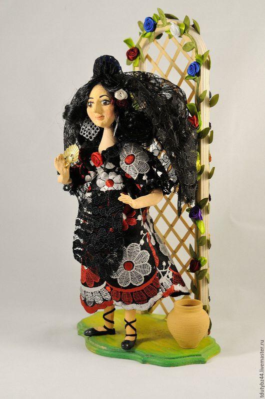 Коллекционные куклы ручной работы. Ярмарка Мастеров - ручная работа. Купить ИСПАНКА авторская кукла. Handmade. Черный, авторская работа