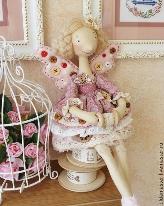 Куклы тыквоголовки ручной работы. Ярмарка Мастеров - ручная работа. Купить Винтажная Швейка. Handmade. Тильдамастер, розовый, американский хлопок