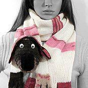 Работы для детей, ручной работы. Ярмарка Мастеров - ручная работа Вязаный шарф Собака. Handmade.