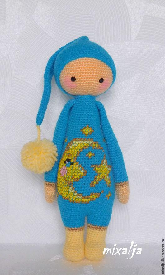 Человечки ручной работы. Ярмарка Мастеров - ручная работа. Купить гномик. Handmade. Голубой, игрушка, игрушка для детей, подарок