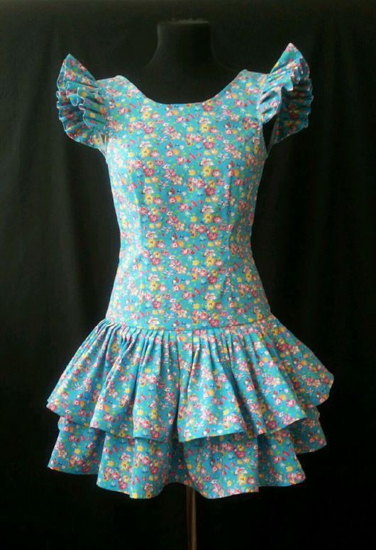 Платья ручной работы. Ярмарка Мастеров - ручная работа. Купить Платье Валери. Handmade. Платье, оборки, платье на лето