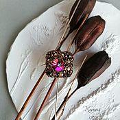 Украшения handmade. Livemaster - original item Brooch pin with Swarovski. Handmade.