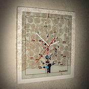 """Для дома и интерьера ручной работы. Ярмарка Мастеров - ручная работа Часы """"Древо Жизни"""" Хрустальные. Handmade."""