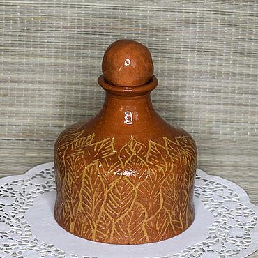 """Посуда ручной работы. Ярмарка Мастеров - ручная работа Графин """"Листья желтые"""". Handmade."""
