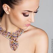 Украшения handmade. Livemaster - original item Embroidered necklace Samarkand. Handmade.
