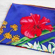 "handmade. Livemaster - original item Шёлковый платок из ткани Chanel "" Сhamp floraison"". Handmade."