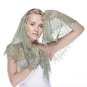 Аксессуары ручной работы. Ярмарка Мастеров - ручная работа Шелковая шаль #11. Handmade.