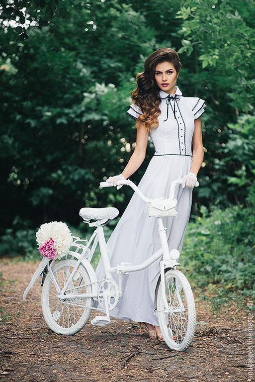 """Платья ручной работы. Ярмарка Мастеров - ручная работа. Купить Платье""""Лето..."""". Handmade. Чёрно-белый, платье в горошек"""