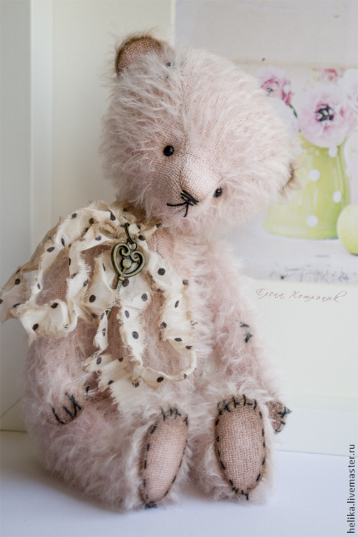 Мишки Тедди ручной работы. Ярмарка Мастеров - ручная работа. Купить Нежность... Handmade. Бледно-розовый, игрушка ручной работы