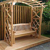 Для дома и интерьера ручной работы. Ярмарка Мастеров - ручная работа пергола и скамейка. Handmade.