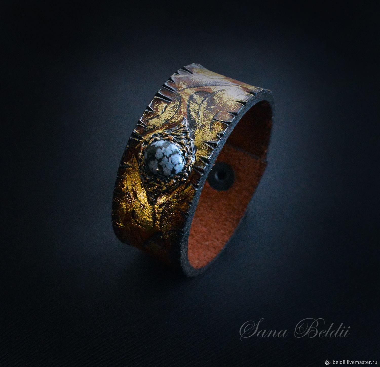 """Браслет из кожи """"Золоо Рейна"""" №2, Cuff bracelet, Ekaterinburg,  Фото №1"""