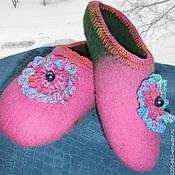 """Обувь ручной работы. Ярмарка Мастеров - ручная работа Тапки """"Нежность"""". Handmade."""