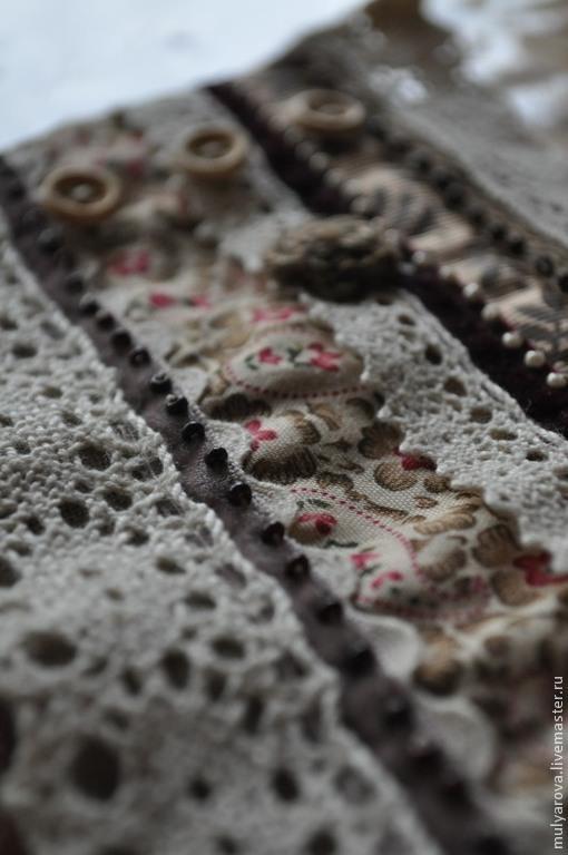 Браслеты ручной работы. Ярмарка Мастеров - ручная работа. Купить Браслет Винтажный (Бардо) в стиле Бохо, текстильный. Handmade. Коричневый
