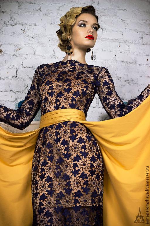 Платья ручной работы. Ярмарка Мастеров - ручная работа. Купить Кружевное платье-трансформер. Handmade. Кружевное платье, платье на заказ