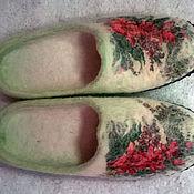 """Обувь ручной работы. Ярмарка Мастеров - ручная работа тапочки """"Русский стиль"""". Handmade."""