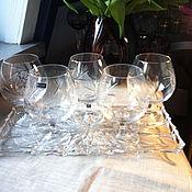 Винтаж handmade. Livemaster - original item Brandy glasses, Bohemia (Czech Republic) 5 PCs.. Handmade.