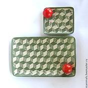 """Посуда ручной работы. Ярмарка Мастеров - ручная работа Тарелки """"Кубики"""". Handmade."""