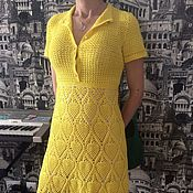 Одежда ручной работы. Ярмарка Мастеров - ручная работа Платье Ананасы в солнечном сиропе. Handmade.