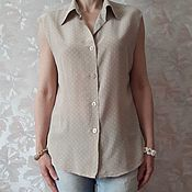 Винтаж ручной работы. Ярмарка Мастеров - ручная работа блузка шелковая,  Benetton. Handmade.