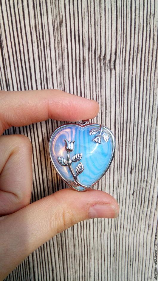 Кулоны, подвески ручной работы. Кулон лунный камень, подвеска сердце. Stone age. Ярмарка Мастеров. Подвеска сердце