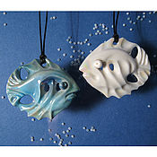 Украшения handmade. Livemaster - original item The Fish, porcelain pendant. Handmade.