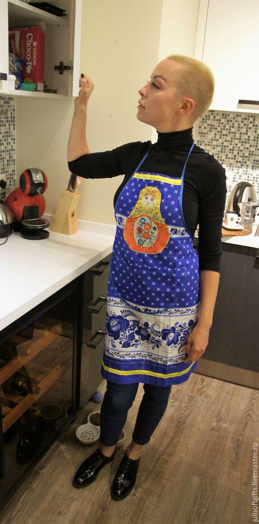 Кухня ручной работы. Ярмарка Мастеров - ручная работа. Купить фартук кухонный. Полулёнлён, ручная роспись. Размер : от S до XXL. Handmade.