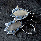 """Украшения ручной работы. Ярмарка Мастеров - ручная работа Серьги серебро """"Тюльпаны"""" из серебра серебряные. Handmade."""
