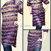 Одежда ручной работы. Ярмарка Мастеров - ручная работа вязаное ажурное платье, туника. Handmade.