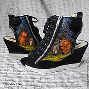 Обувь ручной работы handmade. Livemaster - original item Painting on shoes. Sandals
