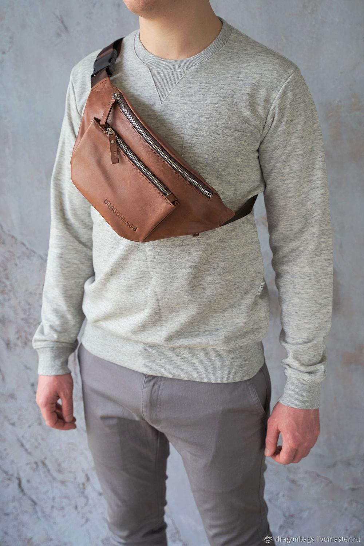 Men's waist bag 'Franklin', Waist Bag, Yaroslavl,  Фото №1