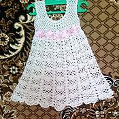 Платья ручной работы. Ярмарка Мастеров - ручная работа Платье Кремовая розочка. Handmade.