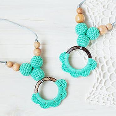 Одежда ручной работы. Ярмарка Мастеров - ручная работа Слингобусы (слингокулоны) с кокосовым кольцом мятные. Handmade.