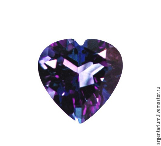 Для украшений ручной работы. Ярмарка Мастеров - ручная работа. Купить Фианит (кубик циркония) 5мм, 7мм фиолетовое сердце. Handmade.
