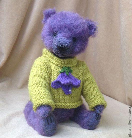 Мишки Тедди ручной работы. Ярмарка Мастеров - ручная работа. Купить Коля. Handmade. Сиреневый, медведь, шплинтовое соединение
