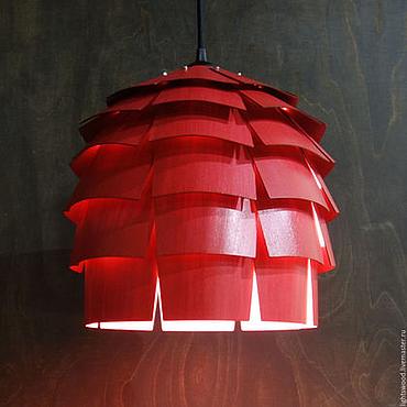 Для дома и интерьера ручной работы. Ярмарка Мастеров - ручная работа Светильник из дерева Шишка Миссис Бук. Handmade.