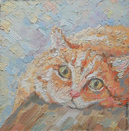Животные ручной работы. Ярмарка Мастеров - ручная работа. Купить Картина. Рыжее солнышко.... Handmade. Рыжий, кот в подарок