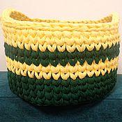 Корзины ручной работы. Ярмарка Мастеров - ручная работа Корзины: корзина цвета лесная зелень - банан. Handmade.