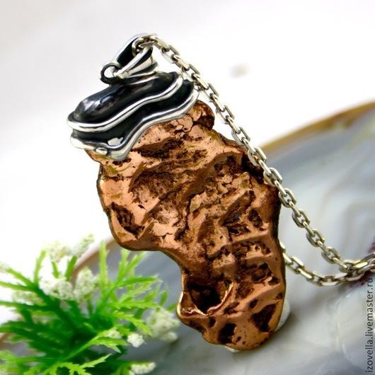 """Кулоны, подвески ручной работы. Ярмарка Мастеров - ручная работа. Купить Кулон """"Венера"""" - медь самородная, серебро. Handmade."""