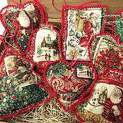 Подарки к праздникам handmade. Livemaster - original item Set of Christmas toys in Vintage style 5 pieces. Handmade.